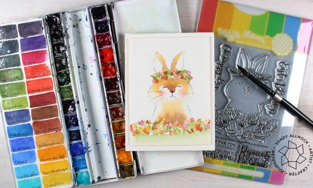 Watercolor a fuzzy bunny – Waffle Flower Bloghop