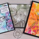 Using up Copic Reinkers – Wildlife Card Backgrounds