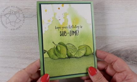 Squeeze the Day (clean and simple watercolor card)