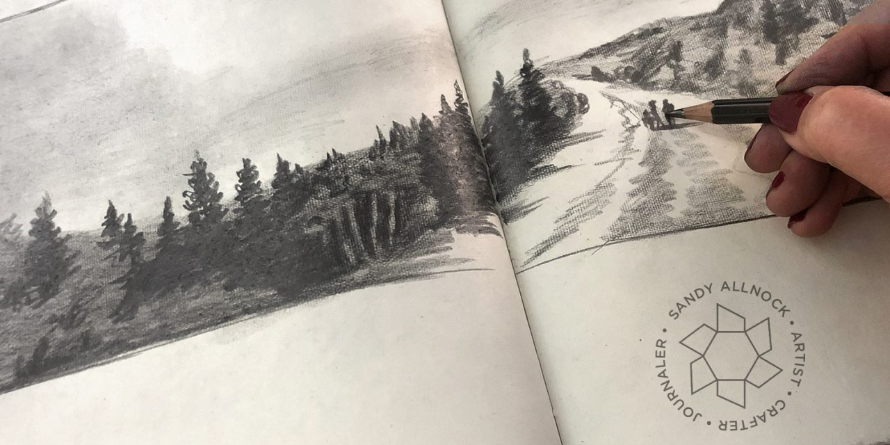 First sketchbook of 2020 DONE – (flip through)
