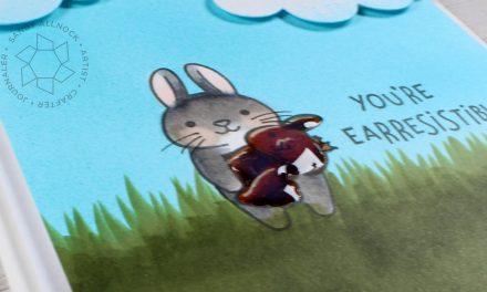 Cannibal Cottontail Card!? (Lawn Fawn and Copics)