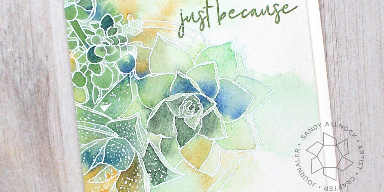 Easy Mondo Watercolor Succulents