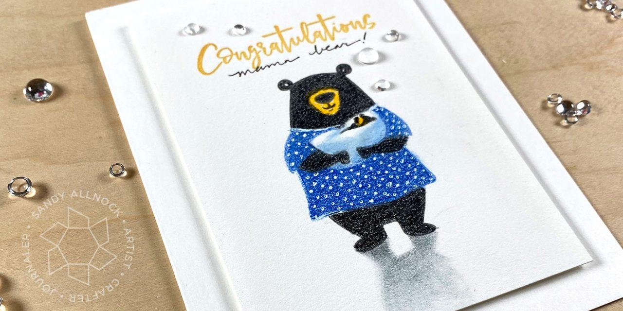Mama Bear – new baby card