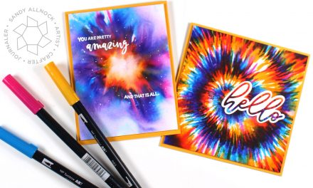 Drawing Tie Dye with water-based markers