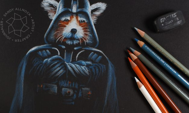 Happy Star Wars Day! Colored Pencil Darth