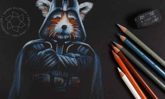 Happy Star Wars Day! Colored Pencil Darth