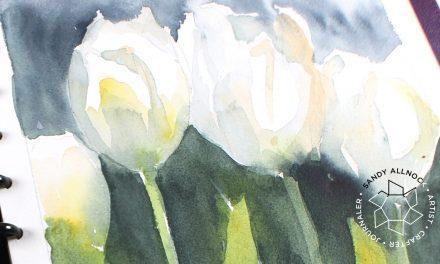 Random Art chat: Making my dream sketchbook, painting tulips