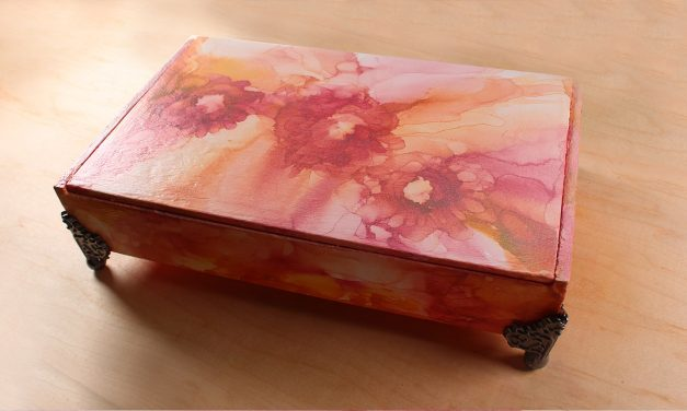Evolution of a Cigar Box: Beautiful alcohol ink project