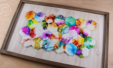 Ethereal Alcohol Ink Hex Tile Art
