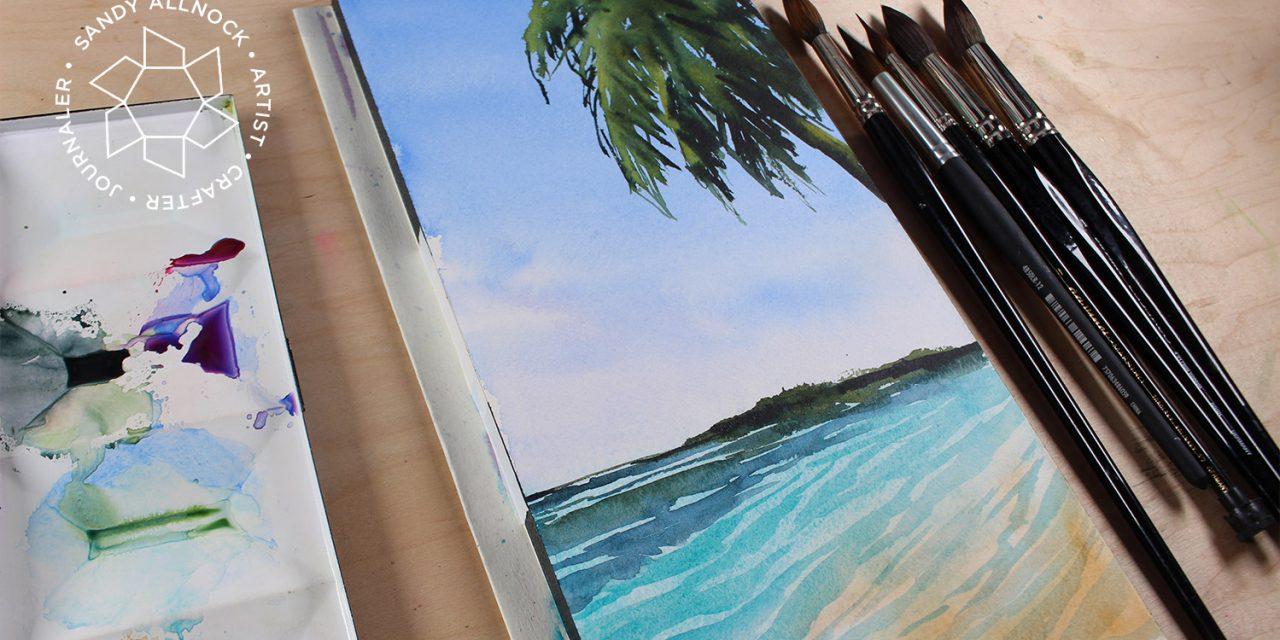 Paint a tropical paradise