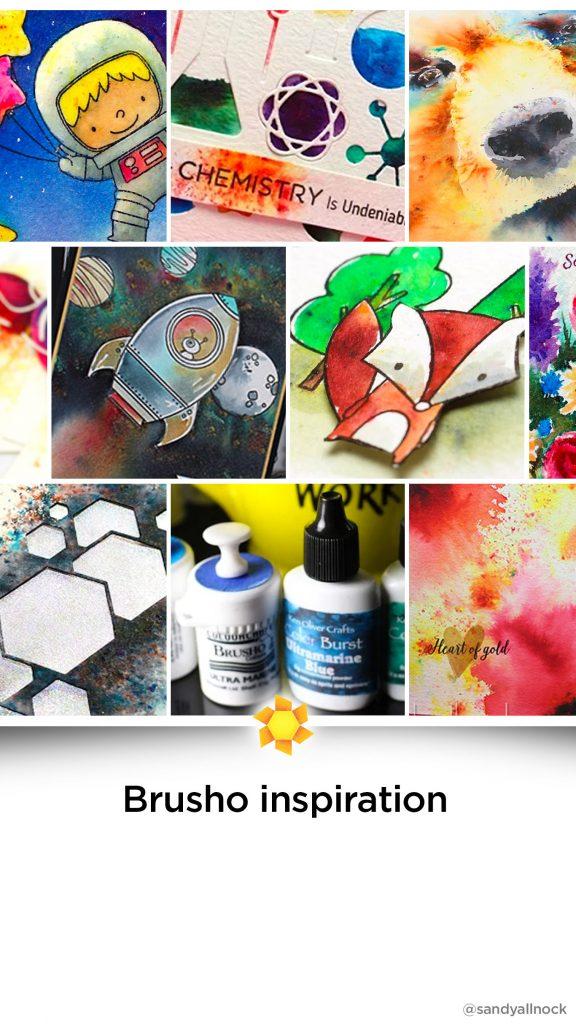 Inspiration: 11+ Watercolor Powder/Brusho Tutorials