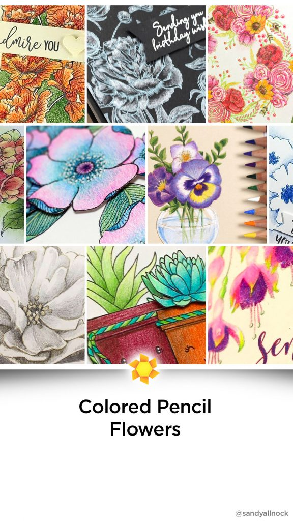 Inspiration: 13+ Colored Pencil Flower Tutorials
